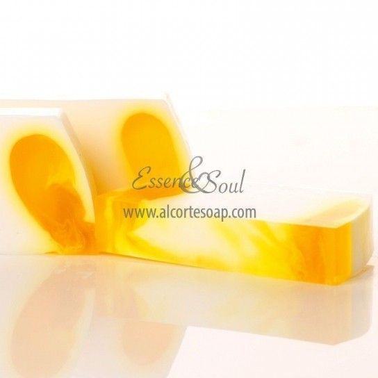 Barra jabón de glicerina plátano