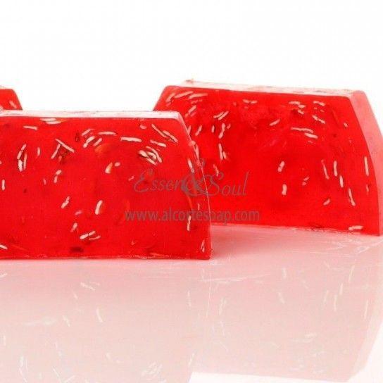 Barra jabón de glicerina avena (pomelo exfoliante)