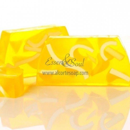 Barra jabón de glicerina limón