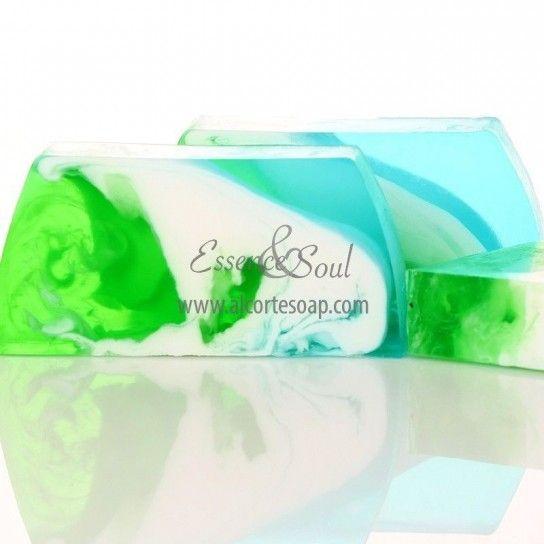 Barra jabón de glicerina menta fresca