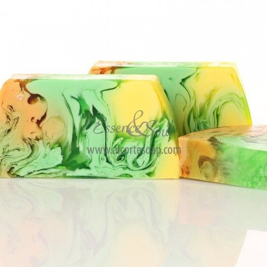 Barra jabón de glicerina piña