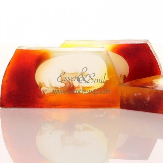 Barra jabón de glicerina ciruela