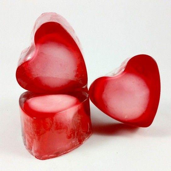 Jabón forma corazón Cereza