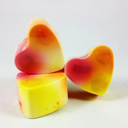 Jabón forma corazón Yogur