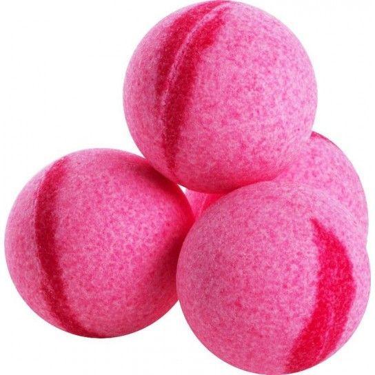 Bola de baño frambuesa