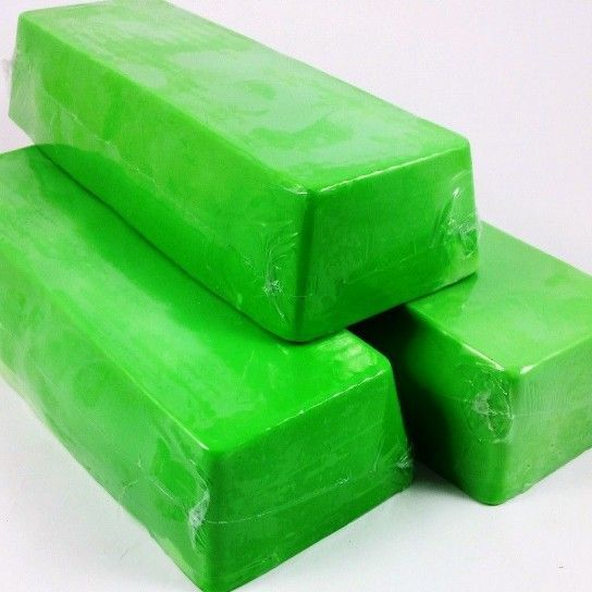 Barra jabón de glicerina manzana verde