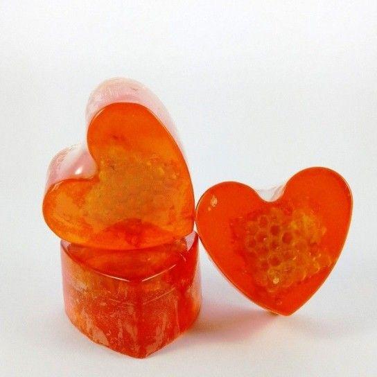 Jabón forma corazón Miel