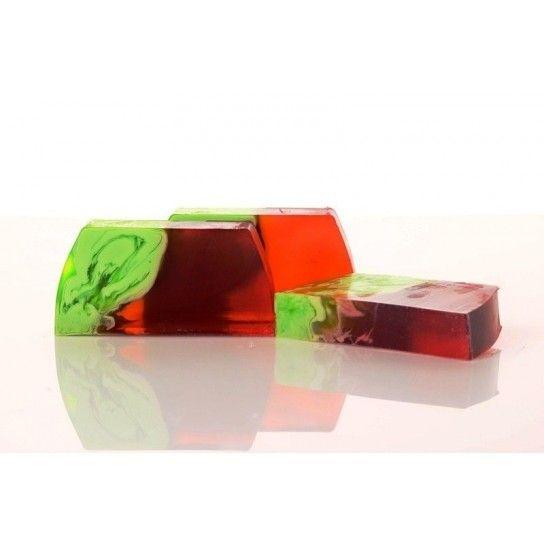 Barra jabón de glicerina Uva Roja