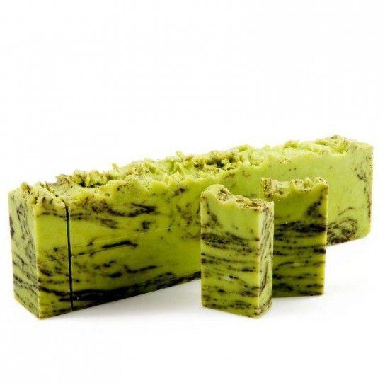 Jabón en barra con árbol del té y té verde
