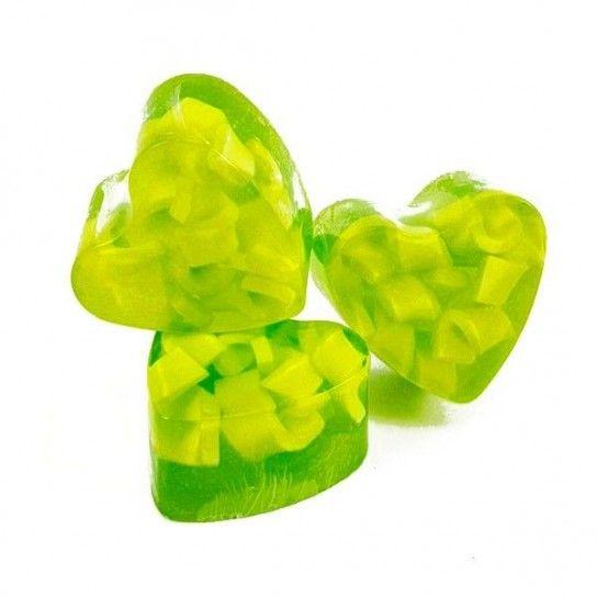 Jabón forma corazón Uva