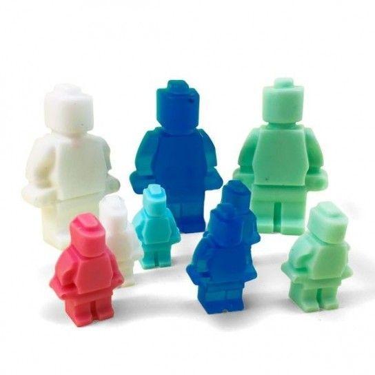 Figura robot lego de jabón grande (5ud)