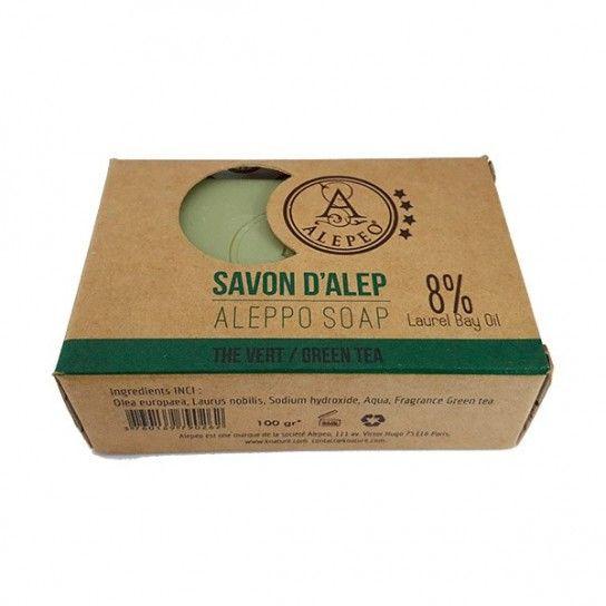 Pastilla jabón Alepo Green Tea 8%