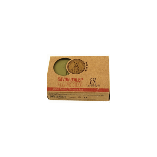 Pastilla jabón Alepo Damascus Rose 8%