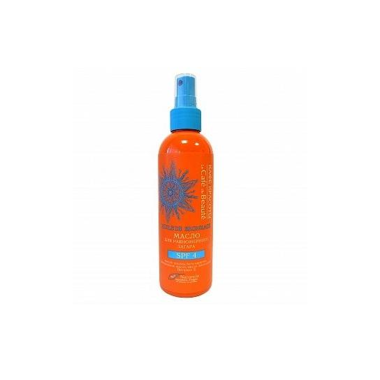 Aceite bronceador natural SPF-4