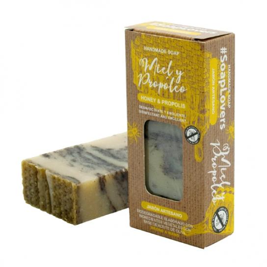 Pastilla de jabón miel y propóleo