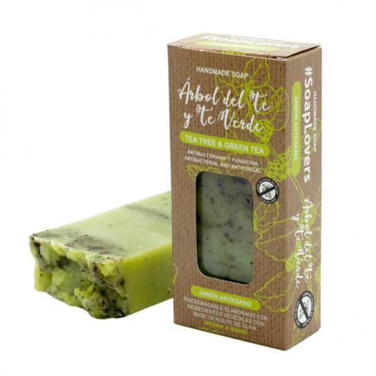 Pastilla de jabón árbol del té y té verde