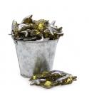 Perla de baño estrella dorada plata (100ud)