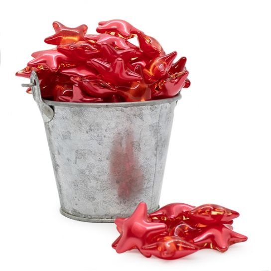 Perla de baño estrella roja (100ud)