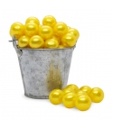 Perla de baño amarilla nacarada (100ud)