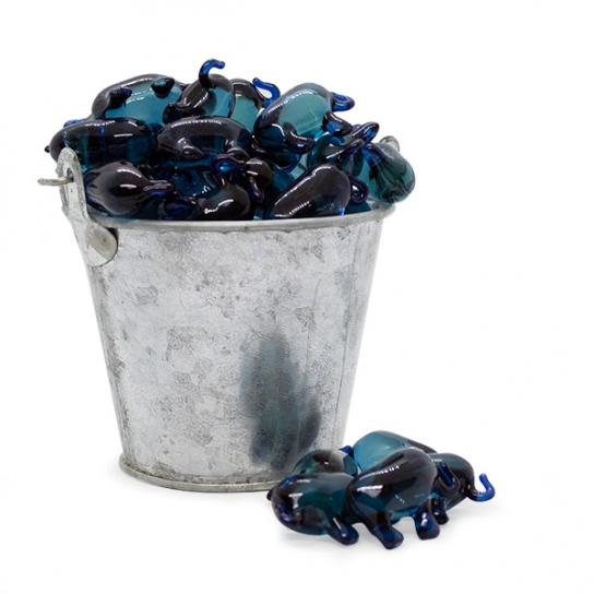 Perla de baño elefantes azules (100ud)