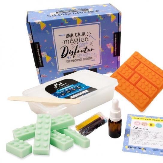 Kit para hacer jabones figuras de Lego
