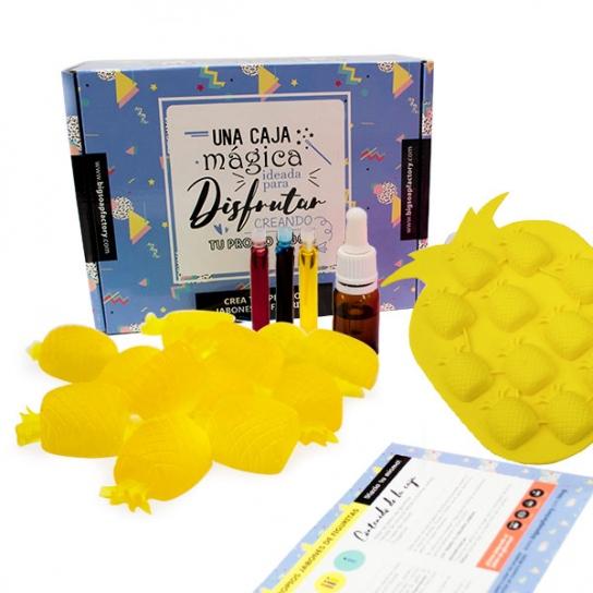 Kit para hacer jabones con forma de Piña