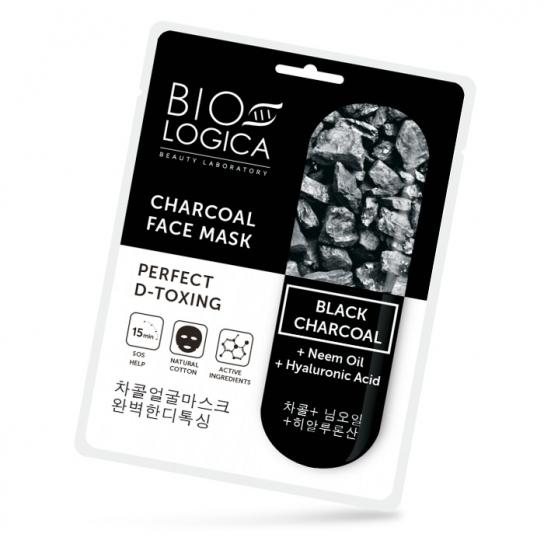 Mascarilla facial D-toxing con Carbón