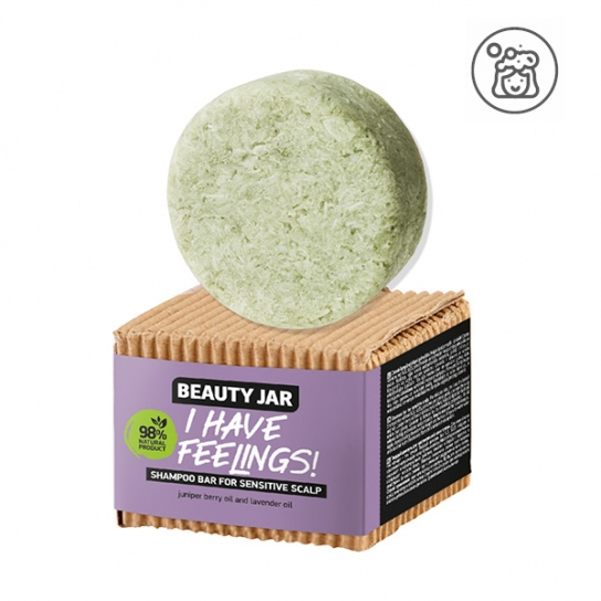 champú sólido Cuero cabelludo sensible - Lavanda y enebro