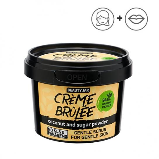 Exfoliante facial suave - Coco y azúcar en polvo