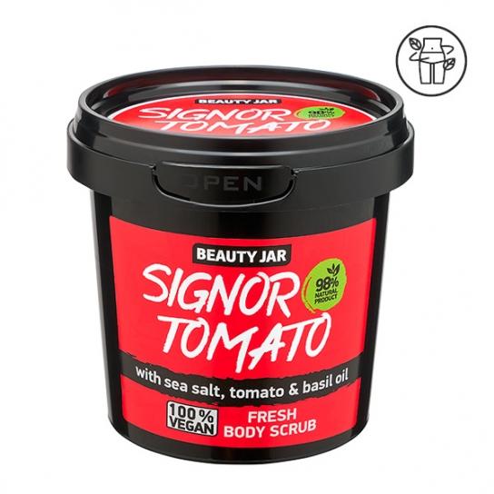 Exfoliante corporal refrescante - Sal, tomate y albahaca y