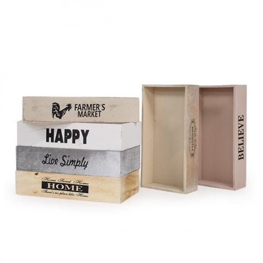 Caja de madera 23x21 (3 unidades)
