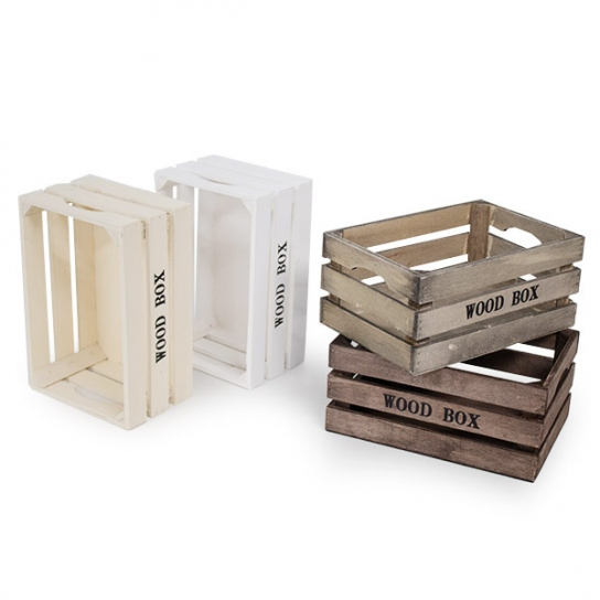 Caja de madera 23x15 (3 unidades)