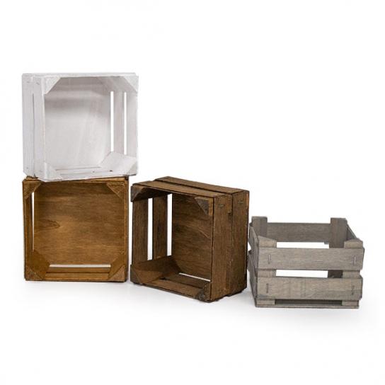 Caja de madera 12.5x12.5 (3 unidades)