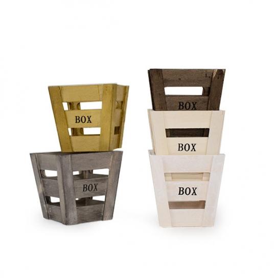 Caja de madera 11x11 (4 unidades)