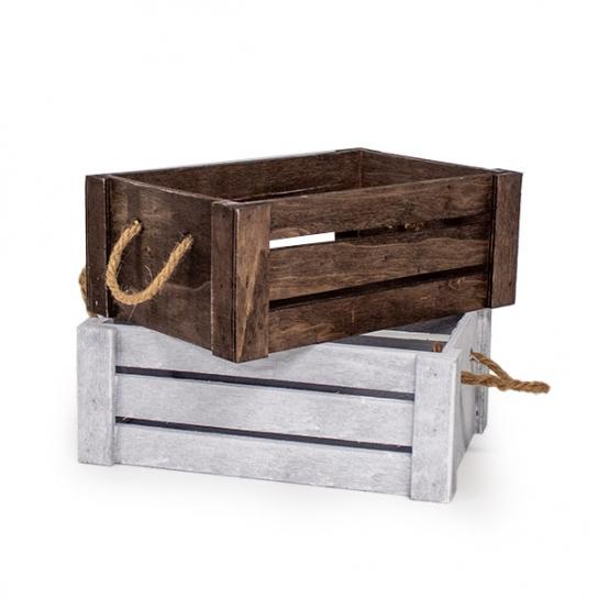 Caja de madera 28x18 (3 unidades)