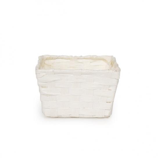 Cesta de madera Blanca 14x14 (3 unidades)