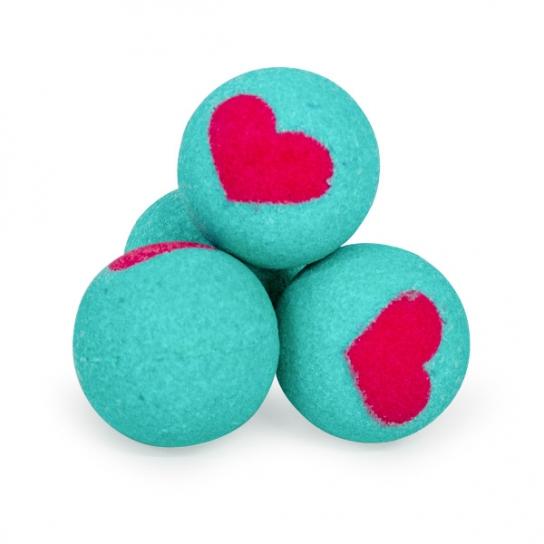 Bola de baño San Valentín (Azul - Roja)