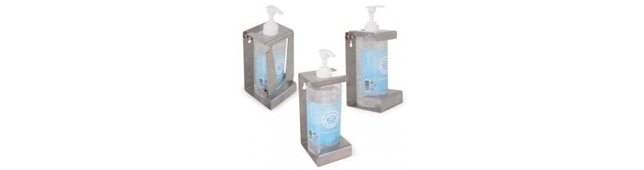 Soporte para Gel Hidroalcohólico en Acero Sanitario