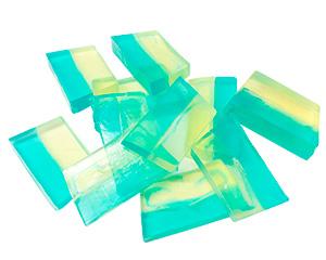 Jabón elaborado con base de glicerina de cristal